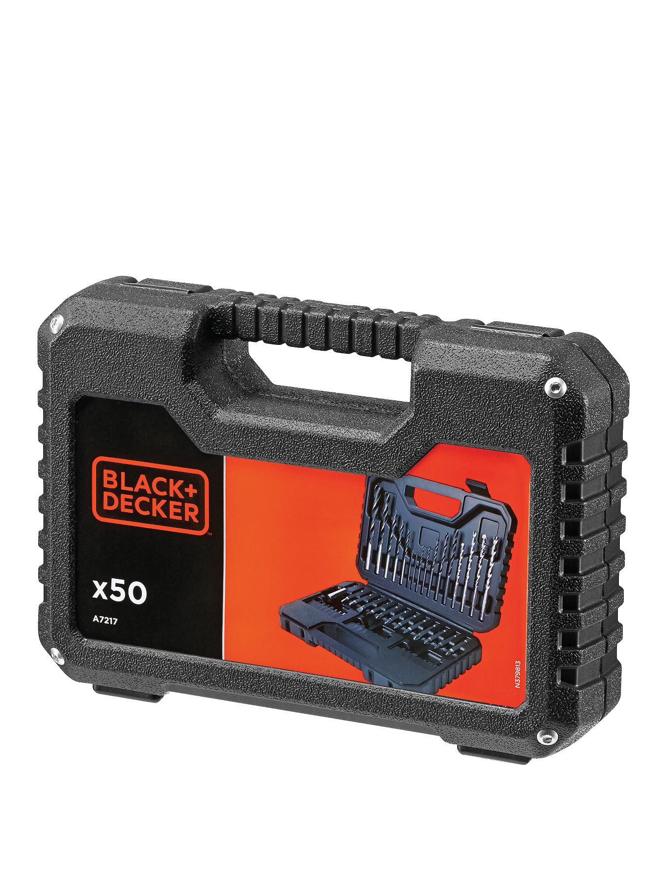 Black & Decker A7217-XJ 50-Piece Drilling and Screw Driving Set with Kitbox