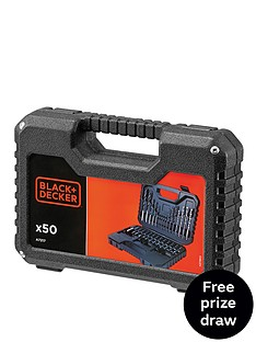 black-decker-a7217-xj-50-piece-drilling-and-screw-driving-set-with-kitbox-free-prize-draw-entry
