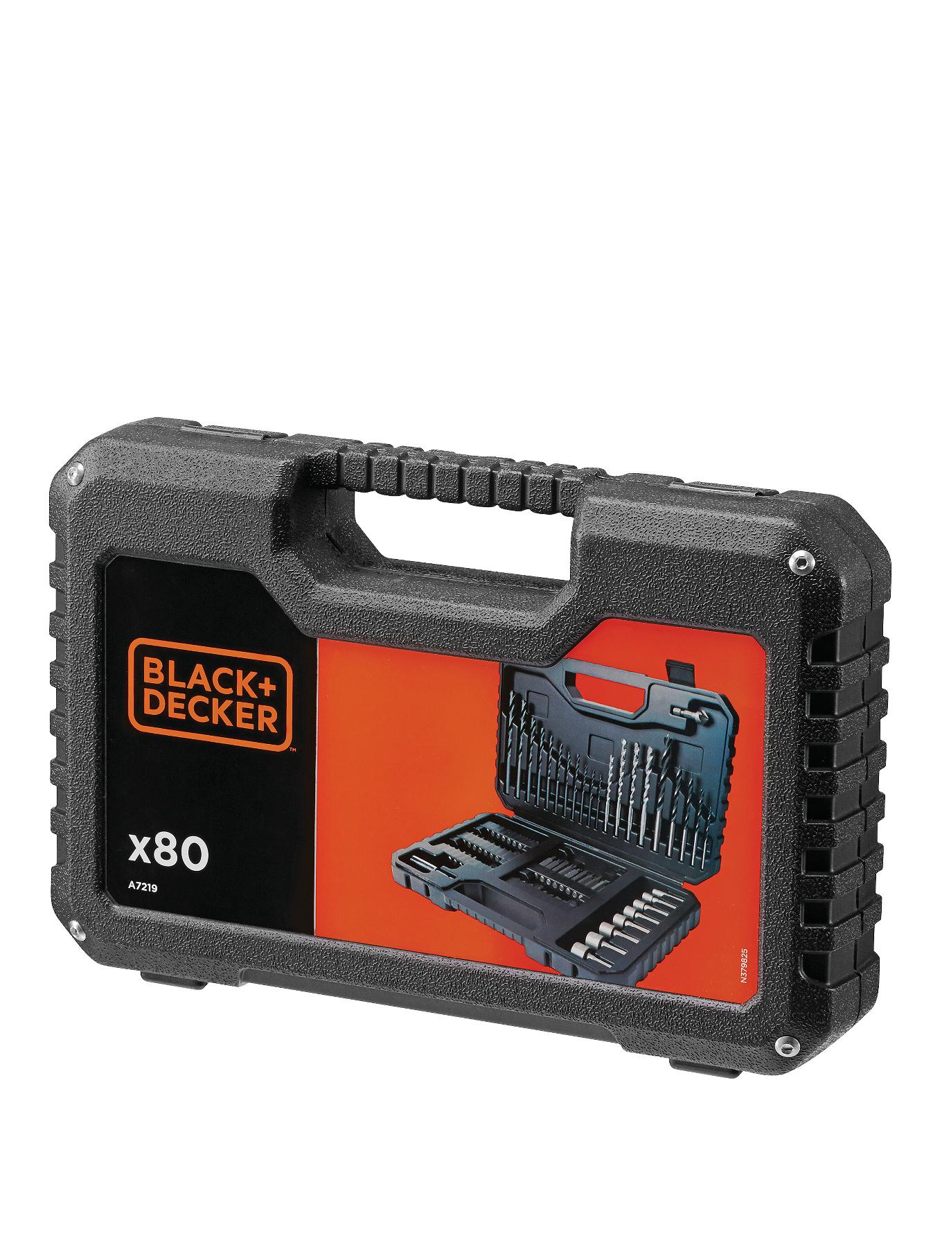 Black & Decker A7219-XJ 80-Piece Drilling and Screw Driving Set with Kitbox