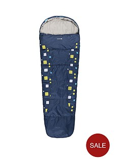 trespass-bunka-junior-printed-sleeping-bag-navy
