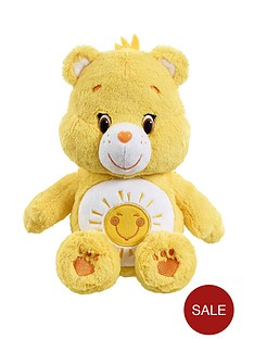 care-bears-medium-plush-funshine-bear-with-dvd