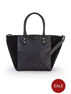 leather-and-suede-tote-bag-black