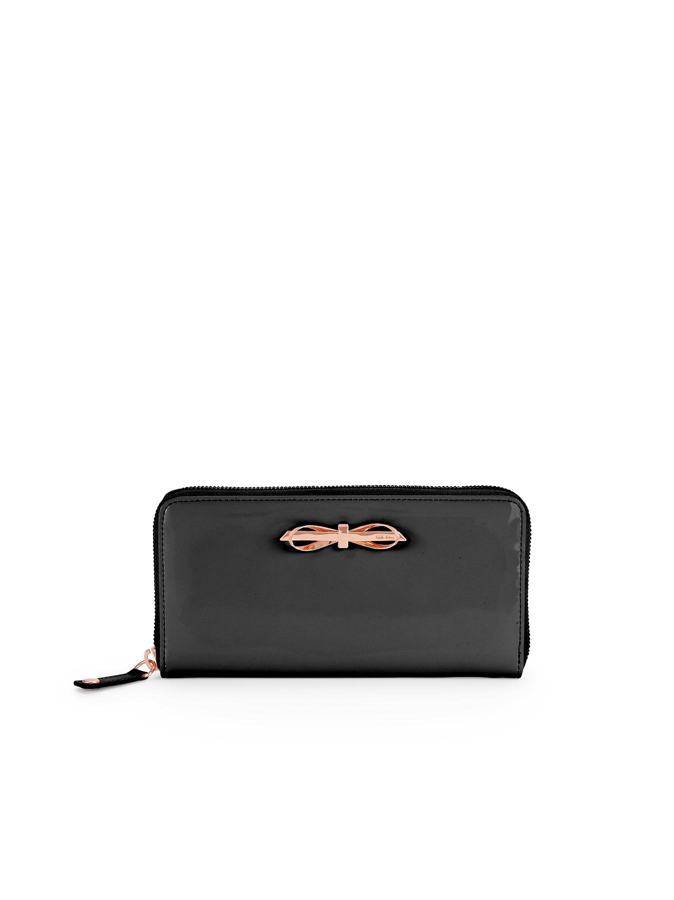 Ted Baker Bow Zip Around Purse - Black, Black