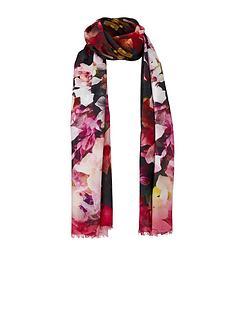 ted-baker-floral-long-silk-scarf-black
