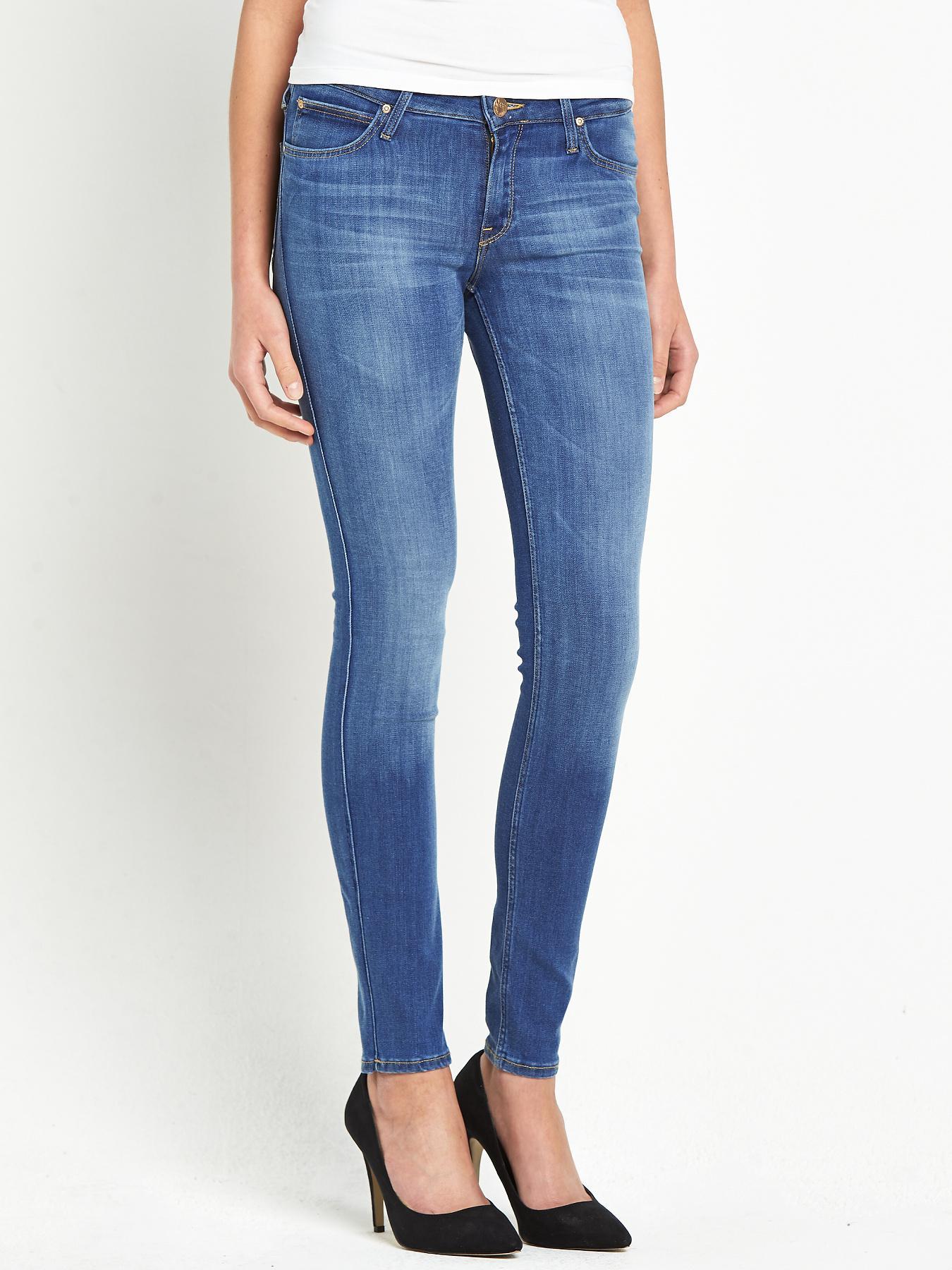 Lee Scarlett Skinny Jeans - Blue, Blue
