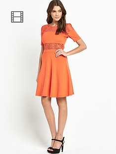 french-connection-linear-wrap-flare-dress