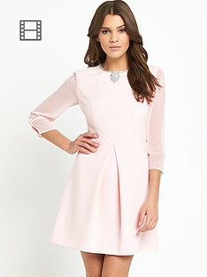 ted-baker-long-sleeve-necklace-dress