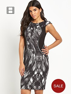 lipsy-printed-panelled-dress