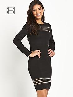 lipsy-long-sleeve-mesh-insert-bodycon-dress