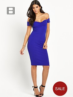 lipsy-textured-bardot-dress