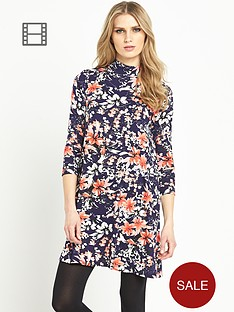 south-turtle-neck-swing-midi-dress