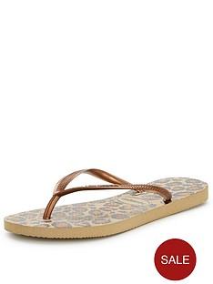 havaianas-beige-leopard-print-flip-flops