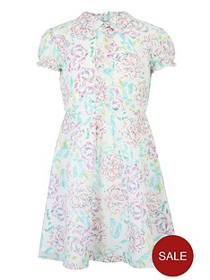 french-connection-flower-print-skater-dress