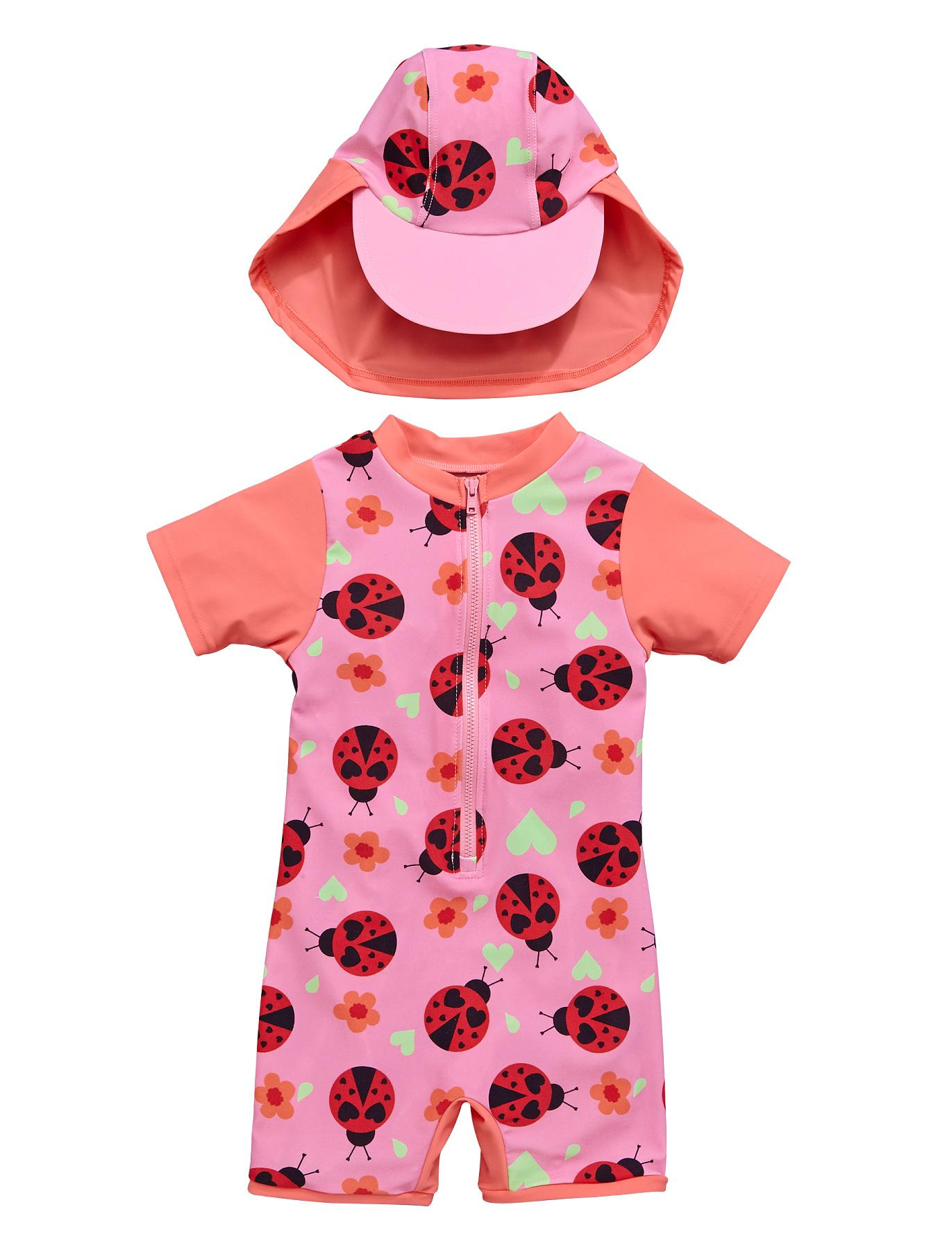 Ladybird Toddler Girls Ladybird Sunsafe and Hat - Pink, Pink