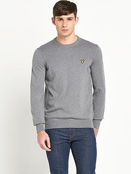 lyle-scott-mens-long-sleeve-crew-neck-jumper-mid-grey-marl