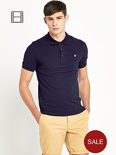 lyle-scott-mens-plain-pique-polo-navy
