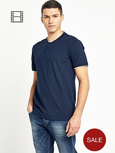 selected-mens-split-neck-t-shirt