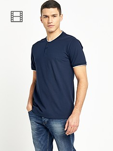 selected-mens-split-neck-t-shirt