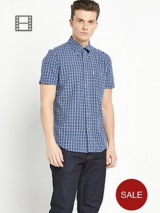 ben-sherman-mens-mini-check-short-sleeve-shirt