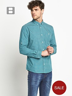 goodsouls-mens-long-sleeve-green-roll-tab-sleeve-printed-shirt