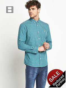 goodsouls-mens-long-sleeve-green-roll-tab-sleeve-printed-shirt