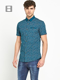 goodsouls-mens-short-sleeve-contrast-collar-teal-print-shirt