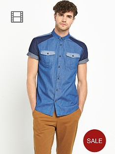 goodsouls-mens-short-sleeve-double-denim-mix-shirt
