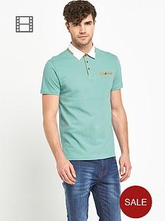 goodsouls-mens-short-sleeve-contrast-smart-pique-polo-top