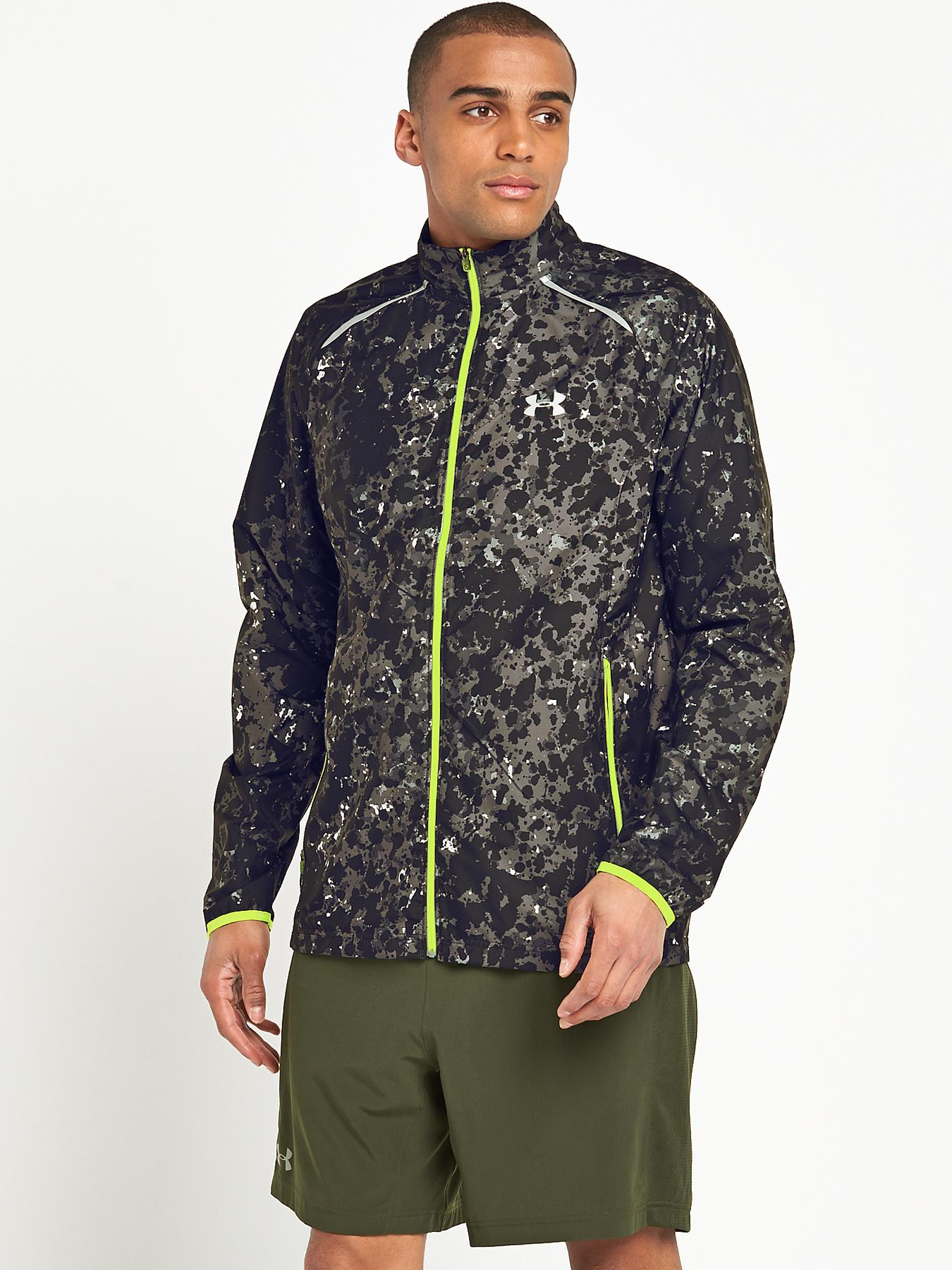 UNDER ARMOUR Mens Storm Launch Run Jacket - Black, Black