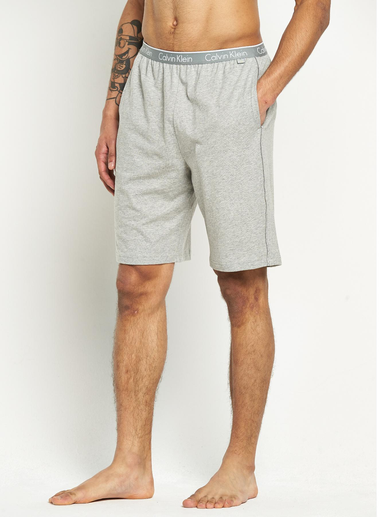 Calvin Klein Mens Lounge Shorts - Grey, Grey