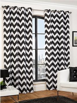 Hamilton McBride Chevron Eyelet Curtains