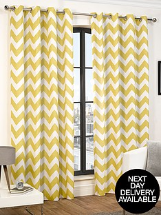 hamilton-mcbride-chevron-eyelet-curtains