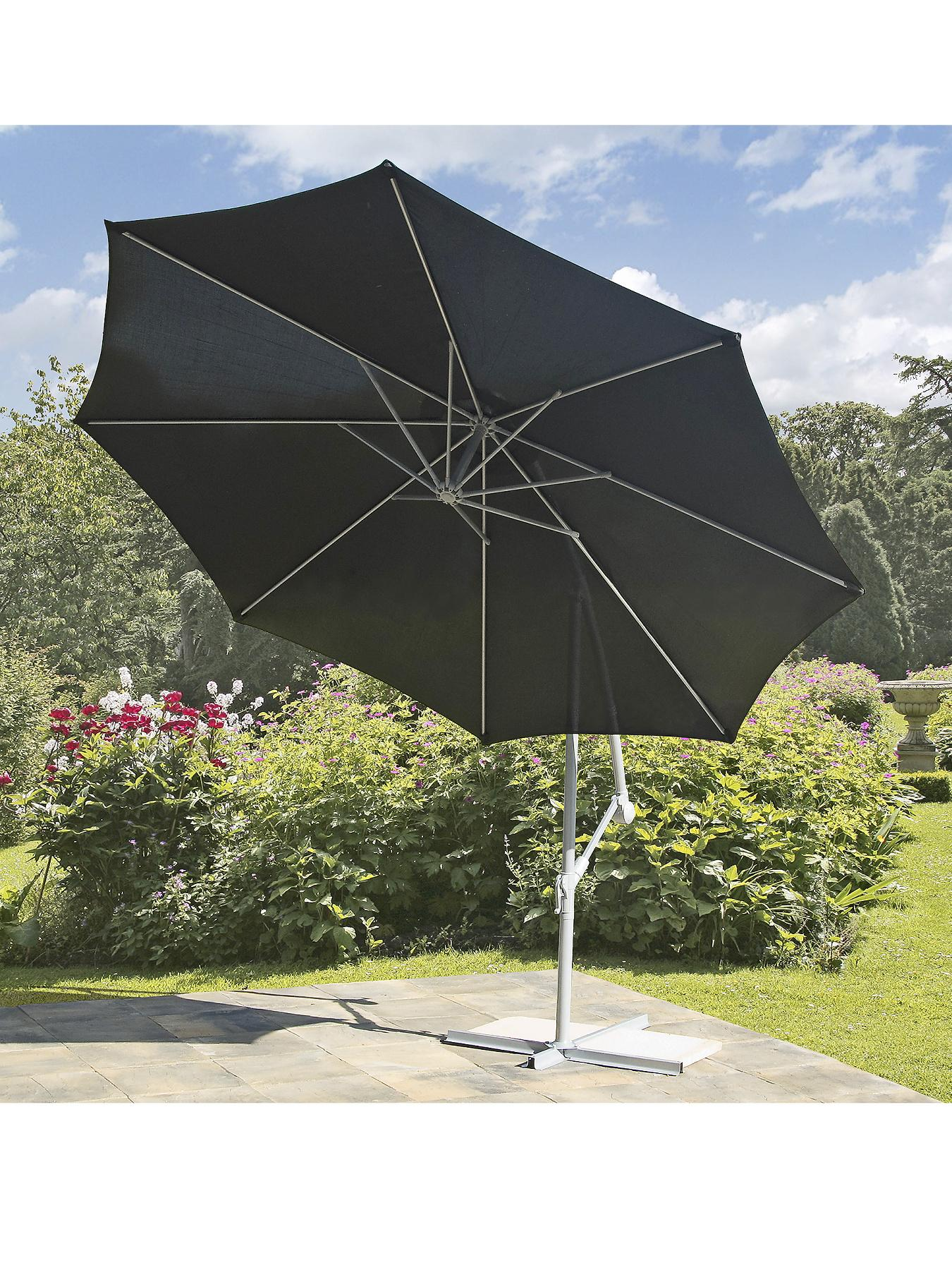 Hanging Parasol 10ft - Black - Black, Black