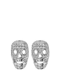 tresor-paris-sterling-silver-white-crystal-skull-12mm-earrings