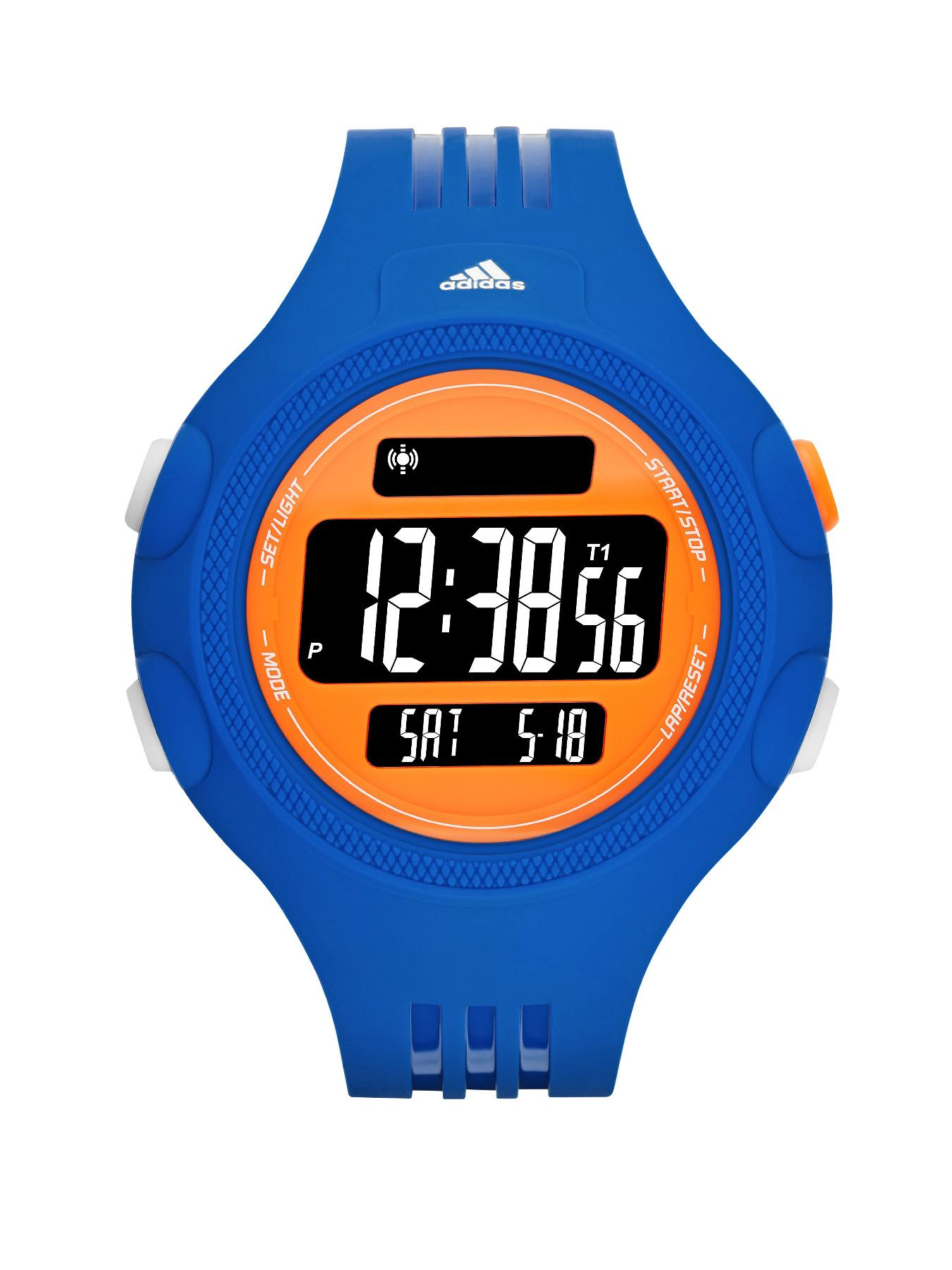 adidas Questra Blue PU 3 Stripes Strap Mens Watch