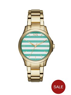 armani-exchange-silvergreen-striped-dial-and-gold-ip-plated-bracelet-ladies-watch