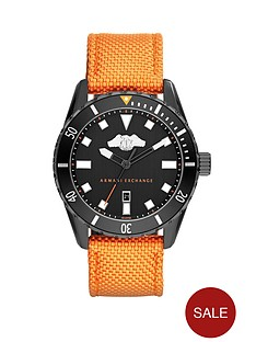 armani-exchange-black-dial-and-orange-woven-nylon-strap-mens-watch