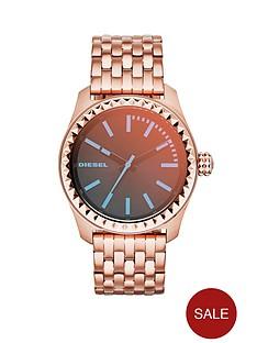 diesel-kray-kray-38-black-dial-rose-gold-tone-stainless-steel-bracelet-ladies-watch
