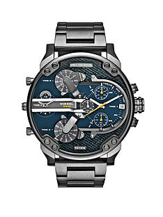 diesel-mr-daddy-blue-dial-and-gunmetal-tone-bracelet-mens-watch