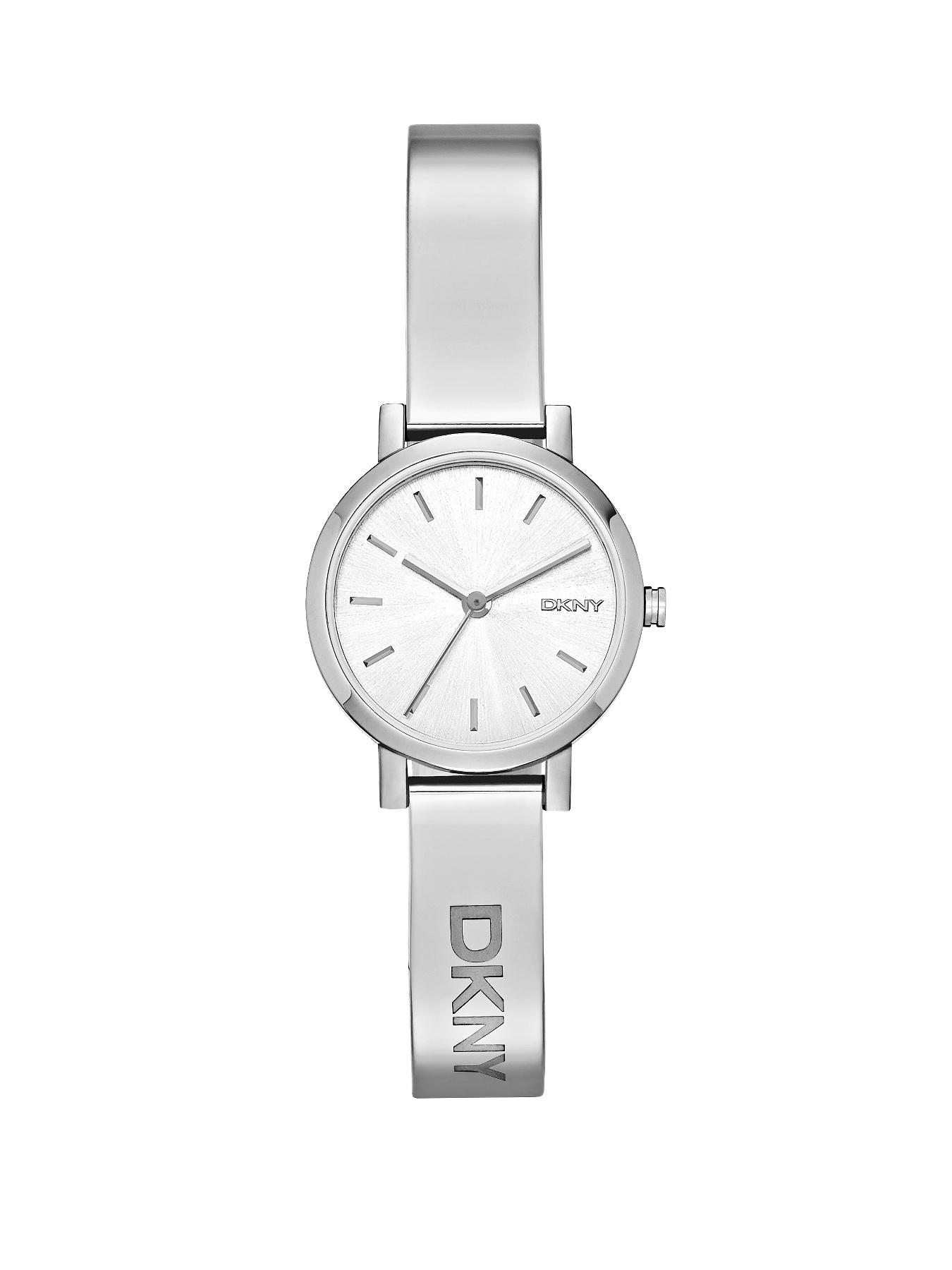 DKNY Soho Stainless Steel Silver-Tone Half Bangle Ladies Watch