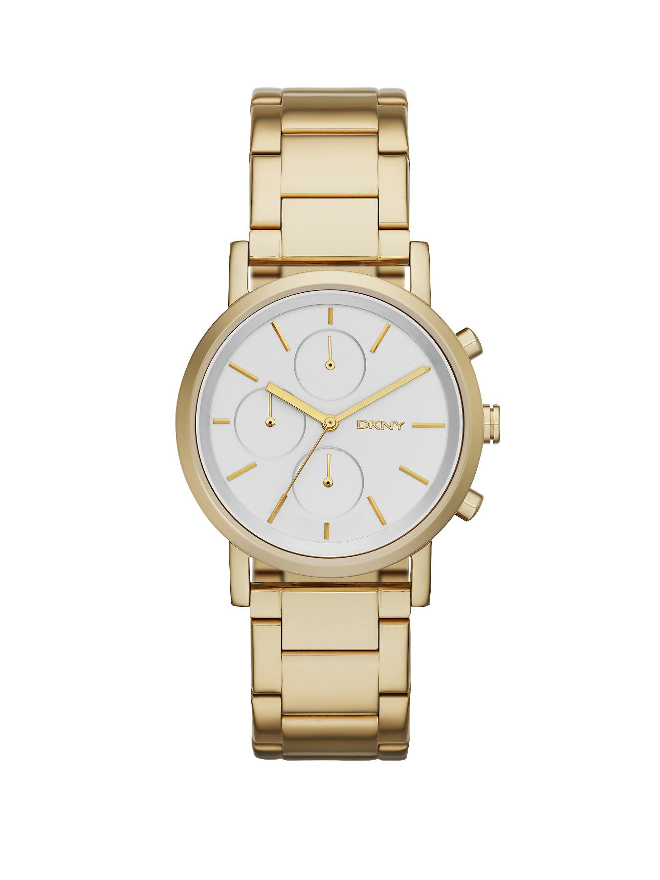 DKNY Soho Chronograph Gold Tone Stainless Steel Bracelet Ladies Watch
