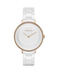 skagen-ditte-white-ceramic-bracelet-ladies-watch