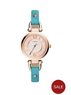 fossil-georgia-leather-ladies-watch