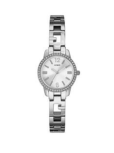 guess-charming-crystal-silver-tone-ladies-watch