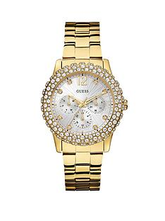 guess-dazzler-crystals-and-multi-function-dial-gold-tone-ladies-watch