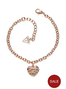guess-rose-gold-plated-crystal-heart-charm-bracelet
