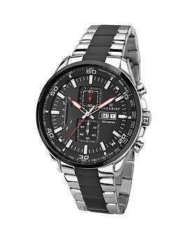 accurist-chronograph-stainless-steel-black-dial-bracelet-mens-watch