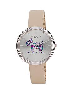 radley-rosemary-gardens-stainless-steel-cream-leather-strap-ladies-watch