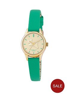 radley-ladies-on-the-run-colour-splash-gold-tone-jade-leather-strap-ladies-watch