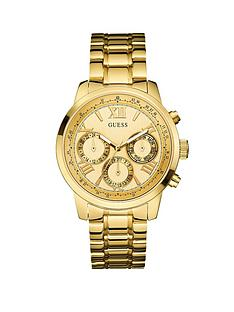 guess-chronograph-gold-tone-sunray-multifunction-dial-bracelet-ladies-watch